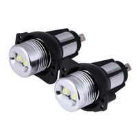 2Pcs Lot 10W Car LED Halo Ring Marker Angel Eyes Light Bulb With No Warning Error
