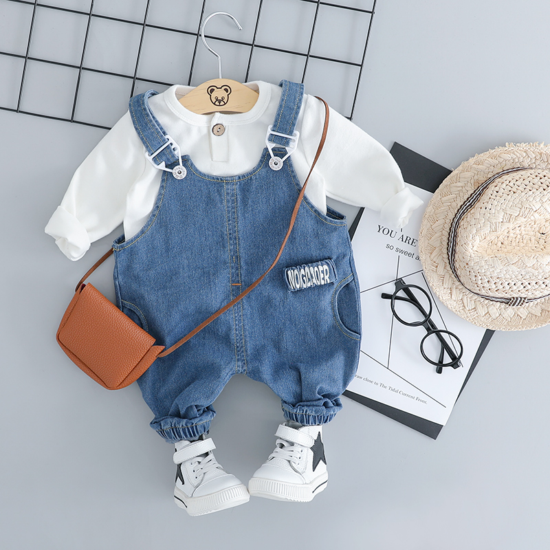 HYLKIDHUOSE Baby Girls Boys Clothing Sets Toddler Infant Clothes Suits High Quality Cotton T Shirt Bib Jeans Kids Child Costume комплект одежды для мальчиков kids clothes sets 2 bib 6m 5y boys clothing sets