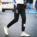 LensTid Оригинальный Дизайн Мода Осень Горячей Продажи Карандаш Брюки Мужчины Случайные Jogger Брюки Вязание Топы Штаны # K51