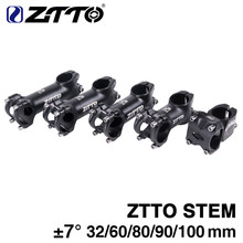 ZTTO Stem Bicicleta de Alumínio Forjado 3D Liga XC AM Road bike MTB Mountain Bike Tronco 7 Graus Ciclismo Stem Parte 32mm 60mm 80mm 90mm(China)