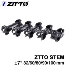 ZTTO de bicicleta 3D forjado de aleación de aluminio de XC soy bicicleta de carretera MTB tallo de bicicleta de montaña 7 grados ciclismo madre parte 32mm 60mm 80mm 90mm