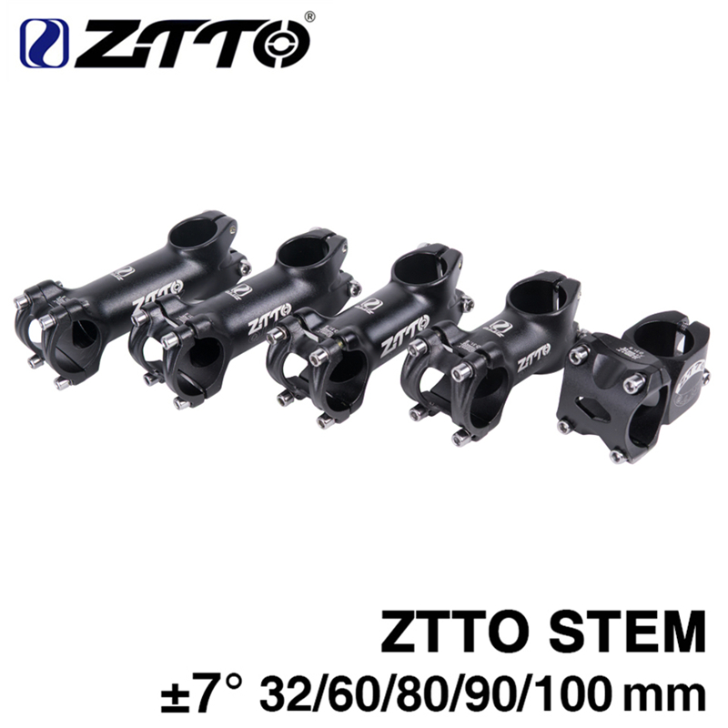 ZTTO Stem Bicicleta de Alumínio Forjado 3D Liga XC AM Road bike MTB Mountain Bike Tronco 7 Graus Ciclismo Stem Parte 32mm 60mm 80mm 90mm