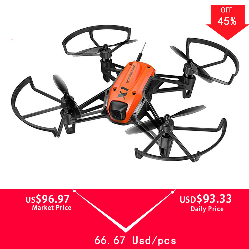 Drone de course à Micro-Module WIFI FPV pour Mini caméra Wingsland X1 d'origine avec positionnement optique du débit BNF VS DJI Tello