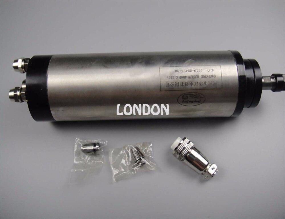 ER11 diameter 65mm 220V 0.8KW water cooling spindle motor 4 bearing for cnc router  цены