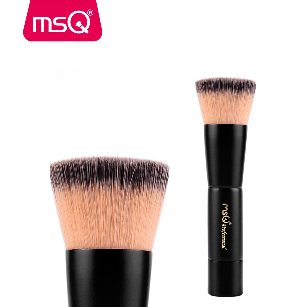 Brand MSQ High Quality Synthetic Hair Foundation Makeup Brush With Painted Wood Handle For Fashion Beauty New Cosmetic Tool  msq professional 15pcs makeup brushes set soft synthetic hair natural wood handle with pu leather case for beauty fashion tool
