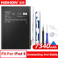 Original NOHON A1547 Battery For Apple iPad 6 Air 2 A1566 A1567 7340mAh High Capacity Lithium Polymer Bateria Free Tools