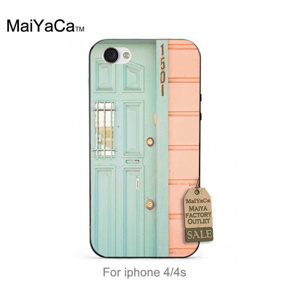 Negro tpu de silicona menta pastel de casa colorida linda del teléfono accesorio