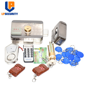 Image 2 - Remote control Electronic RFID Door Gate Lock/Smart Electric Lock Magnetic Induction Door Entry Access Control System 10 tags