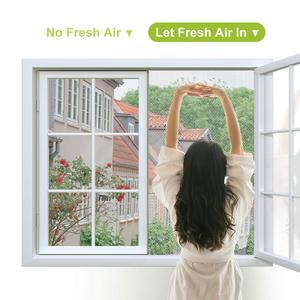 Image 3 - Fly Mosquito 4 Packs Summer Window Net Mesh Screen Room Cortinas Mosquito Curtains Net Curtain Protector Fly Screen Insets