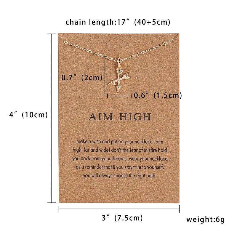 Модный миниатюрный изящный кулон из сердца с цветами, ожерелье, карта желаний, золотой шарм, ожерелье, ювелирные изделия для женщин, аксессуары, подарки для девушки - Окраска металла: 6