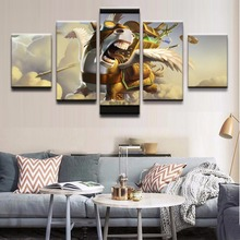5 Pieces Canvas Game Poster Courier DotA 2 Horse Home Decor Painting Modern Printed Pictures Artwork Modular Cuadros