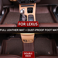 Hot Sale Newest Leather auto car Floor Mat For Lexus For NX ES To Protective Floor Mat Cover Interior Accessories Full set 3D