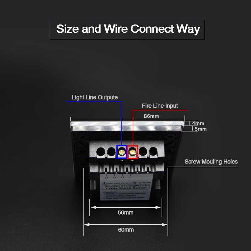 Бесплатная доставка стандарт Великобритании 1 банда 2 банды 3 банды 1 способ настенный светильник контроллер умный дом автоматизация сенсорный выключатель 4 цвета
