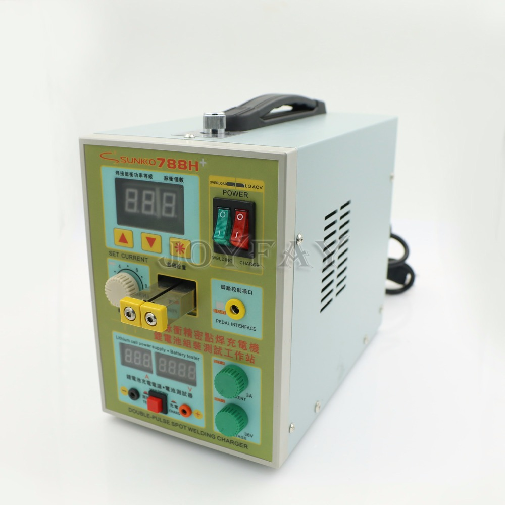 Sunkko LED Lighting Pulse Battery Spot Welder 788H Welding Machine for 18650 Battery Charger 800 A 0.1 - 0.2 mm 36 V  цены