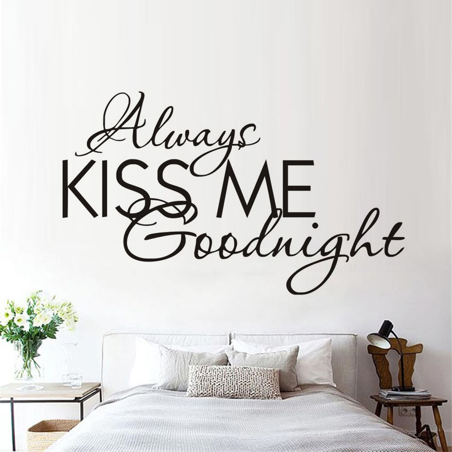 popular wall text decalsbuy cheap wall text decals lots from  - always kiss me removable wall decals text vinyl waterproof every lovestory stickers modern ·