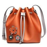 Новейшие высококачественные лучшая bucket bag mansur женские натуральная кожа сумка gavriel леди Натуральная кожа крест мешок, бесплатная доставка