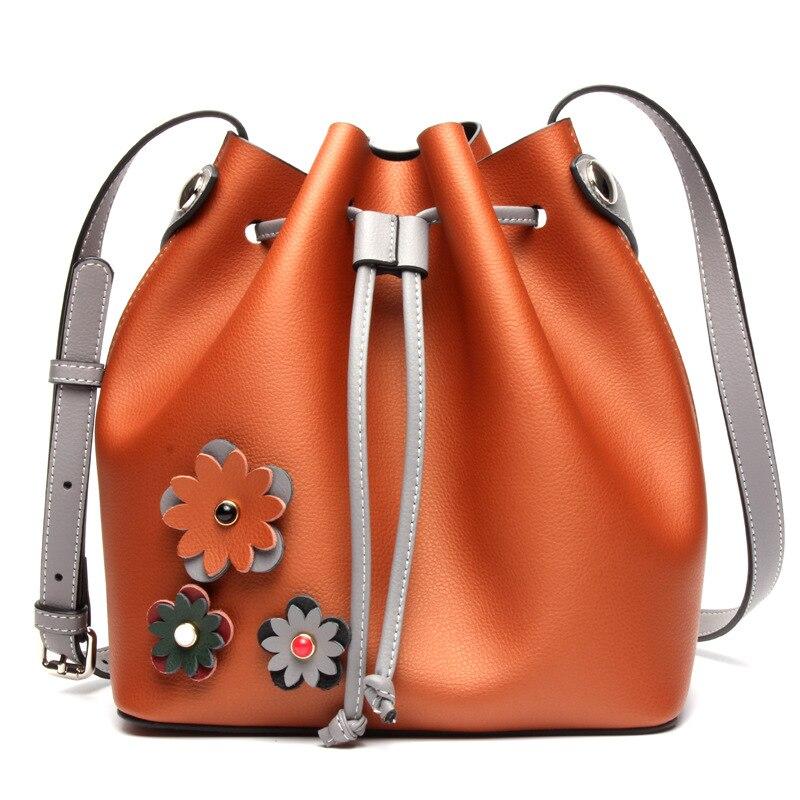 Date TOP qualité meilleur seau sac mansur femmes véritable sac à bandoulière en cuir gavriel dame en cuir véritable croix sac, livraison gratuite