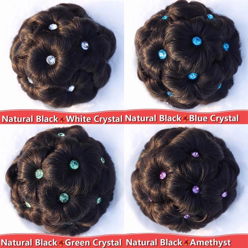 Pinza de rodillo de diamantes de imitación de cristal de 9 flores para el cabello de alta temperatura