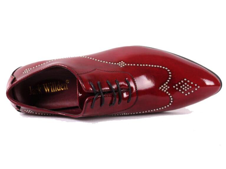 Patentes Derby De Apartamentos Casuais Vestido Azuis Casamento Jack Willden Oxfords Couro Pic as Festa Sapatos vermelho Preto Masculinos Homens Dos Moda wqzXwIAY