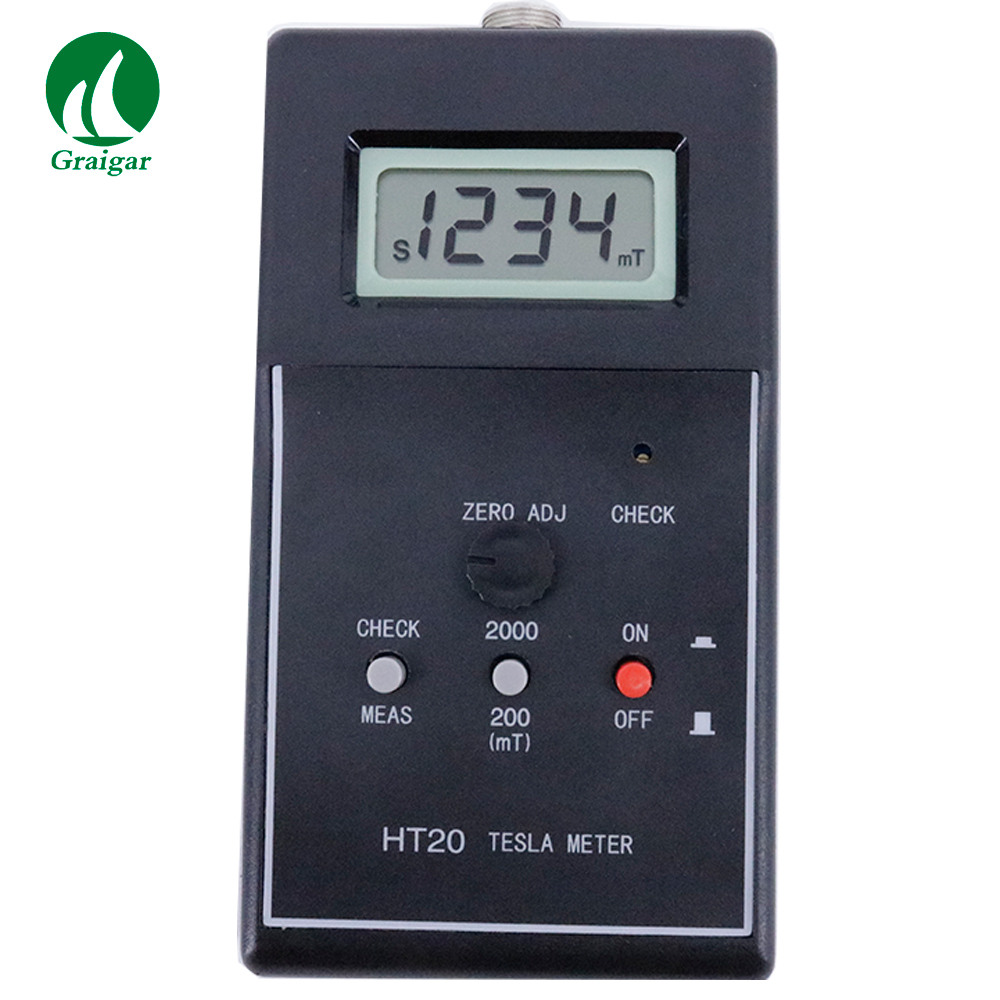 HT20 Digital Gauss Meter Tesla Meter Tester HT-20 Measuring Range 0~200mT~2000mTHT20 Digital Gauss Meter Tesla Meter Tester HT-20 Measuring Range 0~200mT~2000mT