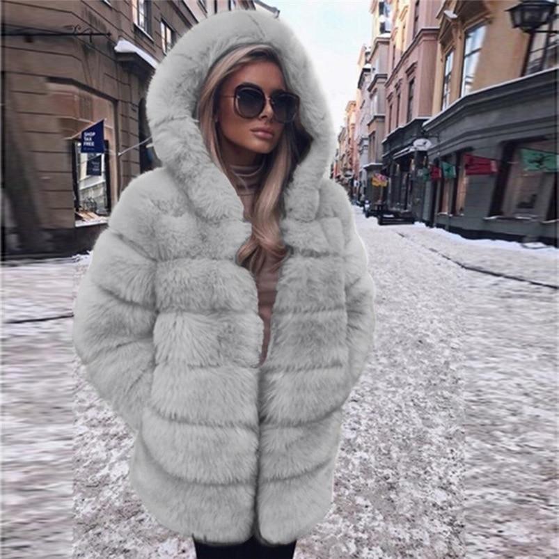 Zipper Winter Coat Women 2018 Sleeveless Fur Cashmere Hoodie Coat Girl Warm Pullover Thick Coat femenino #N28 (10)
