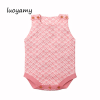 luoyamy 2018 Body Newborns Suit Fashion Baby Girl Summer Clothes Cute Knitted Toddler Infant Bodysuits Backless