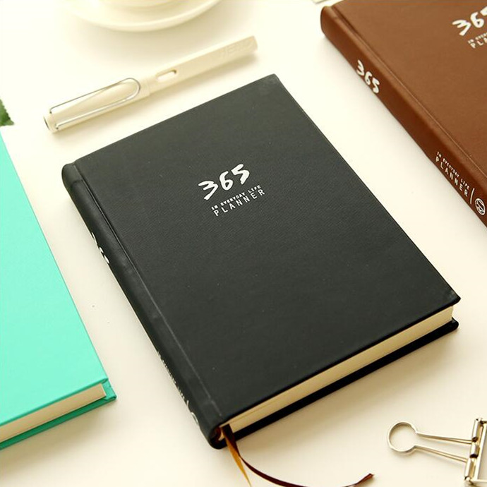 """365 Planner"" Agenda Planner Planning Papers Dagboek Hard Cover Jaarlijks Maandelijks Dariy Journal Notebook Notepad"