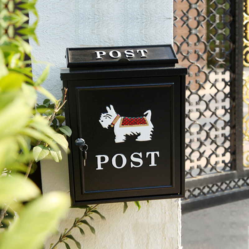 Large Letter Box Outdoor Lockable Secure Mail Post Cast Aluminum Mailbox Postbox