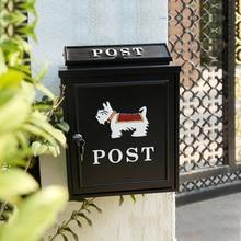 Большая Почтовая коробка для наружной запираемой безопасной почты литой алюминиевый почтовый ящик