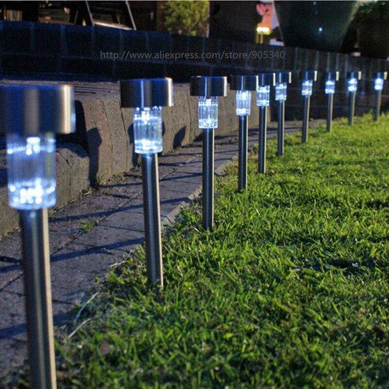 Solar powered dip led lawn light Plastic Outdoor Yard Garden Wall ...
