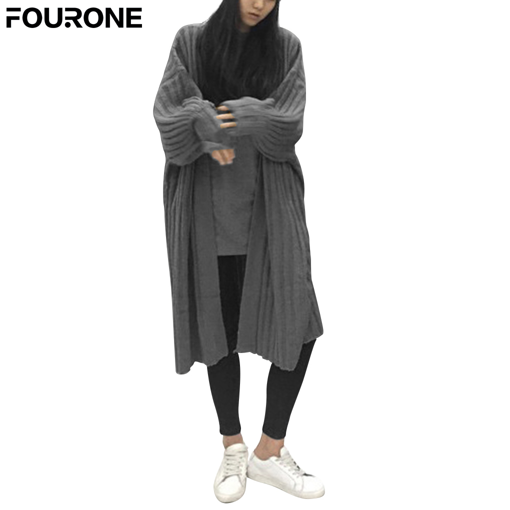 Women Long Cardigans Thin Sweater Coat Knitted Jacket Outwear Full ...