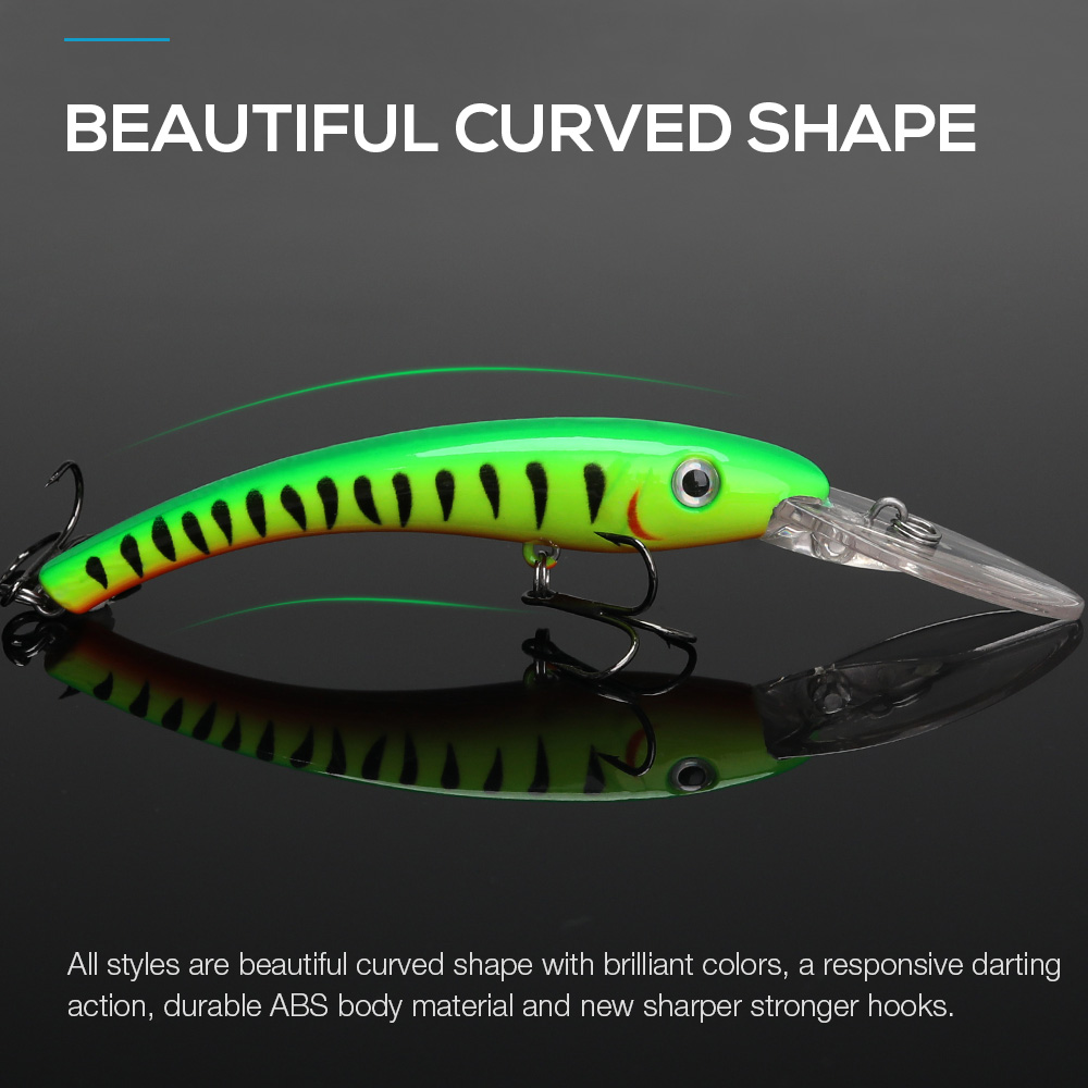 Image 2 - TREHOOK Minnow Fishing Lures Wobblers for Trolling/Pike Fishing 10cm 9.5g Floating Fake/Hard Baits Black Minnow Lure Trout-in Fishing Lures from Sports & Entertainment