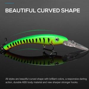 Image 2 - TREHOOK דגיג דיג פתיונות Wobblers עבור חכות/פייק דיג 10cm 9.5g צף מזויף/קשיח פיתיונות שחור מינאו פיתוי פורל
