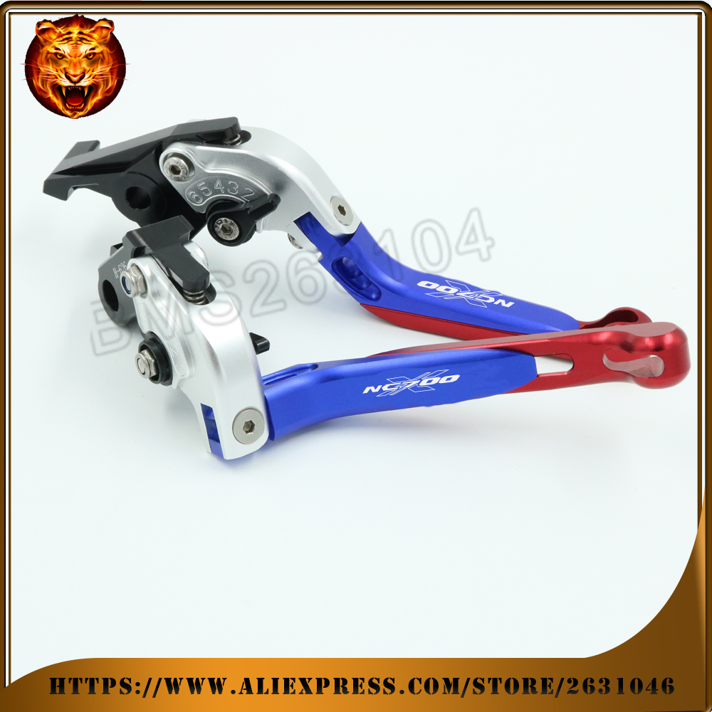 Adjustable Folding Extendable Brake Clutch Lever For HONDA NC700 S/X NC700X 2012 2013 WITH LOGO Free shipping Motorcycle cnc motorcycle adjustable folding extendable brake clutch lever for yamaha xt1200z ze super tenere 2010 2016 2012 2013 2014 2015