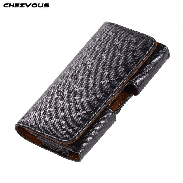 new product 81ca0 2901e US $6.89 5% OFF|CHEZVOUS PU Leather Pouch Horizontal Belt Clip Case for  iPhone 7 8 6 plus 5s Universal Phone Case Waist Bag for Samsung S8 S9-in  Phone ...