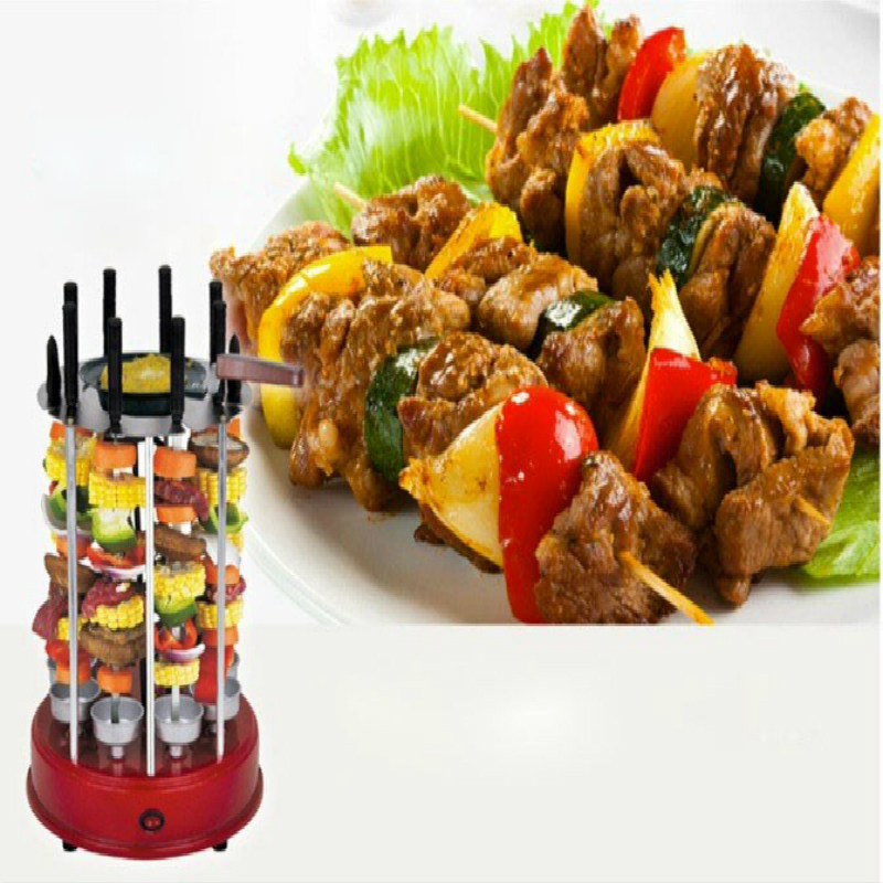 New Electric Vertical BBQ grill roast chicken machine Household Automatic Electric 8 skewers Octavo Barbecue machine цена и фото