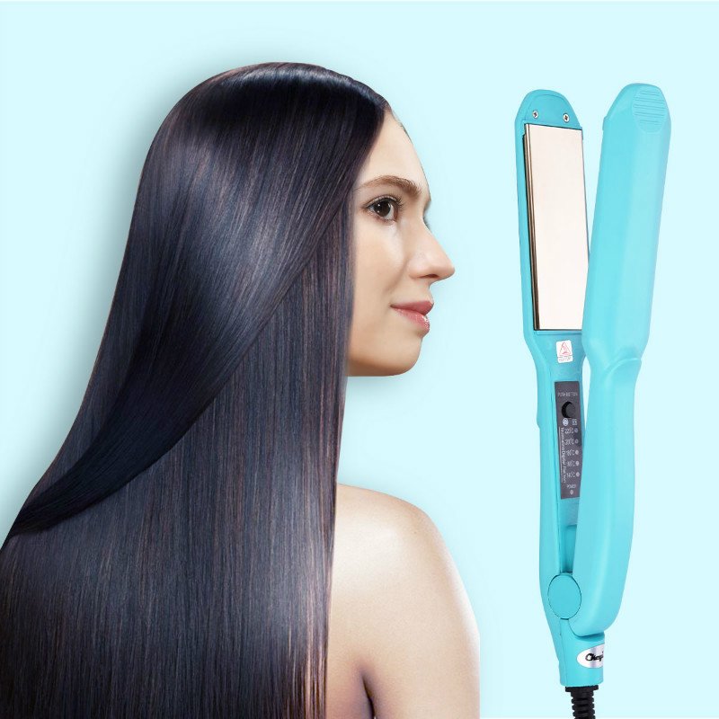Titanium Plates Professional Hair Straightener Rapid Heating Flat Iron Ceramic Temperature Adjust Straightening Irons Styling