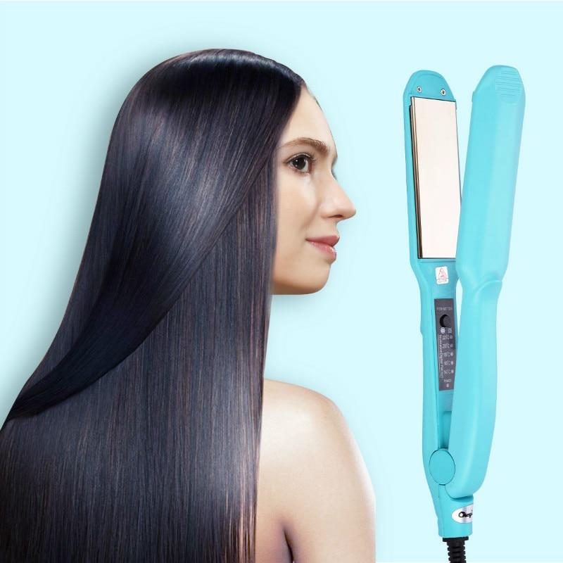 Titanium Plates Professional Hair Straightener Rapid Heating Flat Iron Ceramic Temperature Adjust Straightening Irons Styling
