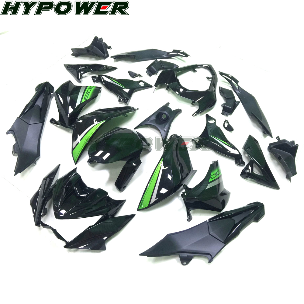 Motorcycle Fairings For Kawasaki Z800 Year 2013 2014 2015 2016 13 16 New Gloss Black Green ABS Plastic Injection Fairing Kit