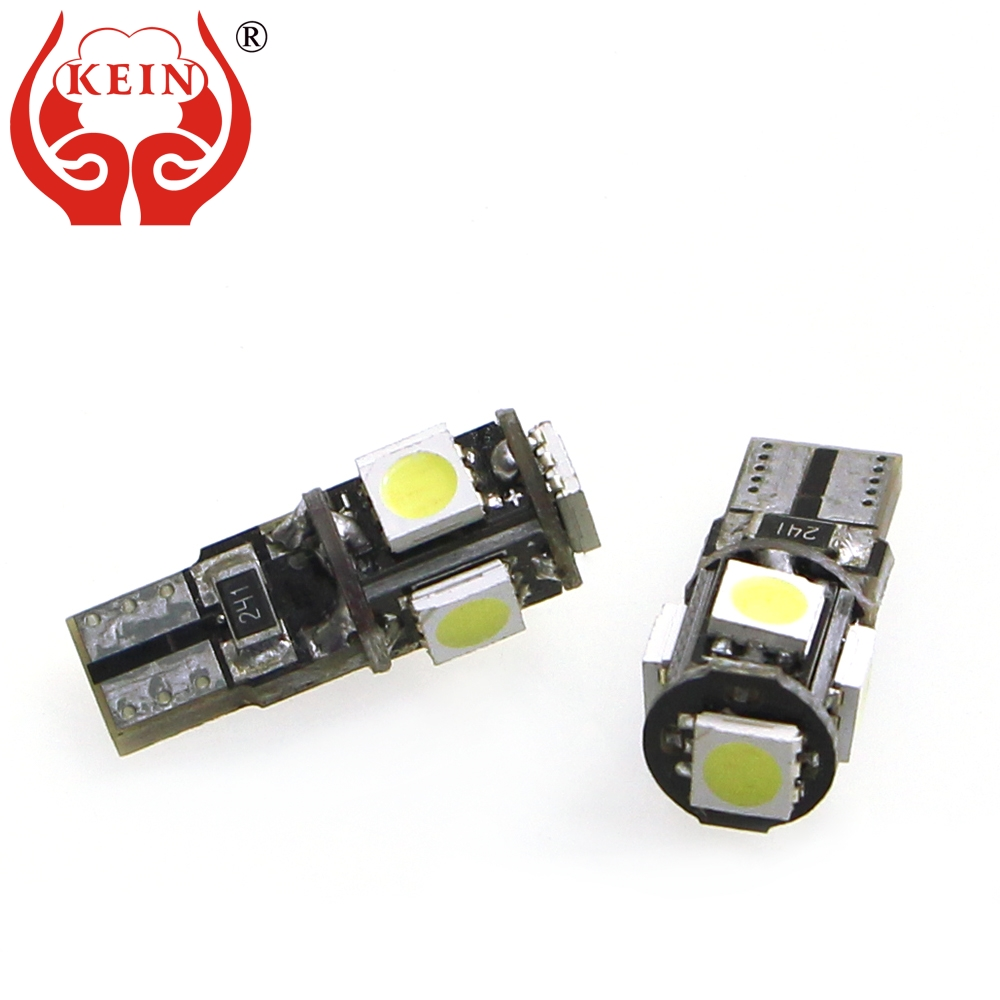 KEIN <font><b>100pcs</b></font> <font><b>t10</b></font> w5w led Bulb 194 168 <font><b>Canbus</b></font> 5050 5smd 12V led car auto License Plate Reading door Side Wedge Signal lights lamp image