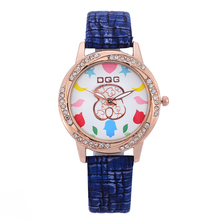 Top Style Fashion Women's Luxury Leather Band Analog Quartz WristWatch Golden Ladies Watch Women Dress Reloj Mujer blue Clock fashion women watches clock star moon meteor series lady wristwatch leather band analog watch female dress watch reloj mujer