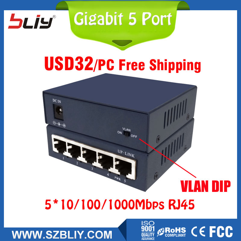 Free shipping network switch 5 port VLAN network HUB gigabit 10/100/1000Mbps auto-negotiate Ethernet switch hub with VLAN switch new sealed ws c3850 24t s catalyst c3850 24 port gigabit ethernet switch free shipping