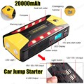 High capacity car 'charger pack vehicle 20000mAh jump starter multi function auto start emergency power supply