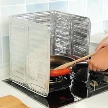 Aluminum Foil Oil Block Oil Barrier Stove Cooking Heat Insulation Anti   Splashing Oil Baffle Kitchen Utensils Supplies