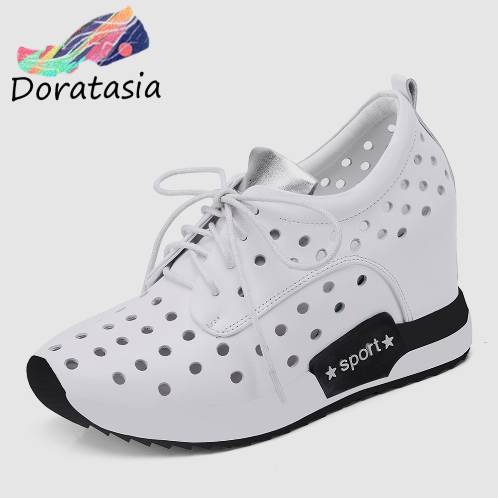 DORATASIA New Comfort Genuine Leather Shoes Sneakers Women 2019 Summer Elegant Women High Shoes Woman Height Increasing 32-40DORATASIA New Comfort Genuine Leather Shoes Sneakers Women 2019 Summer Elegant Women High Shoes Woman Height Increasing 32-40