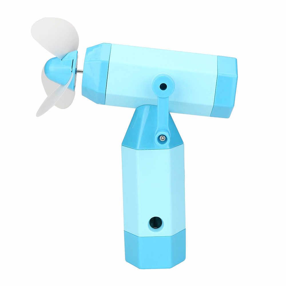 TELOTUNY אקראי צבע מיני יד עיתונות גמיש נייד כיס צעצועי מאוורר מגניב אוויר כף יד נסיעות חיצוני חמוד לסחוט צעצוע z0524