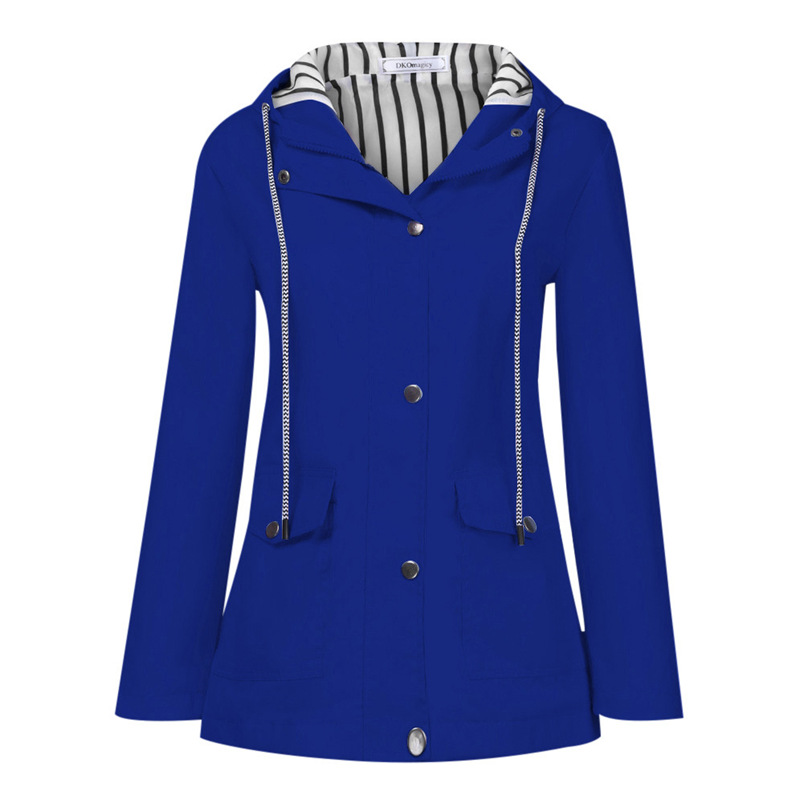 Rain Coat Women Plus Size Coat 2018 Long Sleeve Waterproof Jacket Hooded Raincoat Jacket Women Clothes Warm Coat Girl #O11 (33)