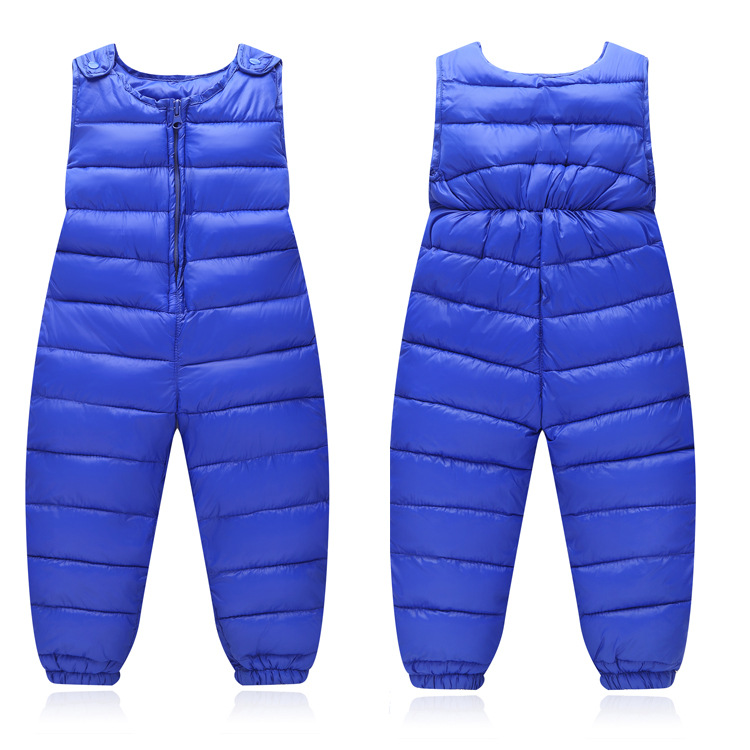 Children's Down Pants Baby Boys Outside Toddler Winter Girls Kids Trousers Thick Romper Overalls Windproof Warm Trousers hot sale 2016 winter children kids duck down bib pants overalls toddler baby boys girls thick warm trousers clothes tn168