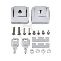Tour Pack Pak Latch Cover Set Chrome For Harley Touring Road King 1988 2013 2012