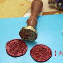 Novo HITMAN REBORN selo de cera De Metal cabeça com cabo de madeira, Scrapbooking cabeça de vedação selo de cera, do Presente do vintage de alta qualidade